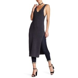 Free People Ribbed Maxi Dress With Slits